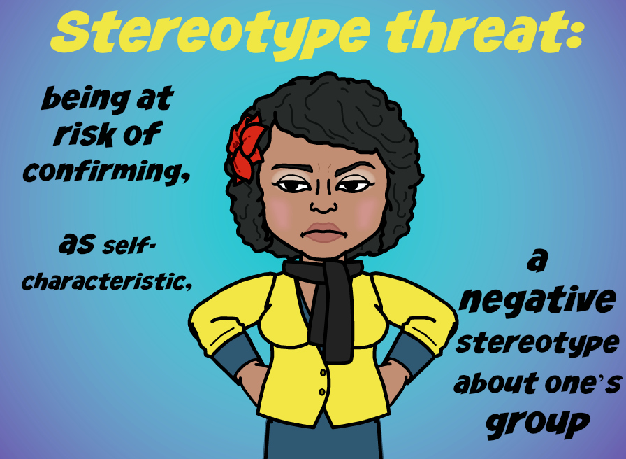 bitmoji kara defines Stereotype threat